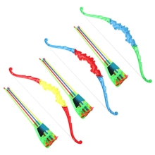 Outdoor Sports Archery Toy Bow With 4Pcs Soft Arrows Kids Toy Game Activity