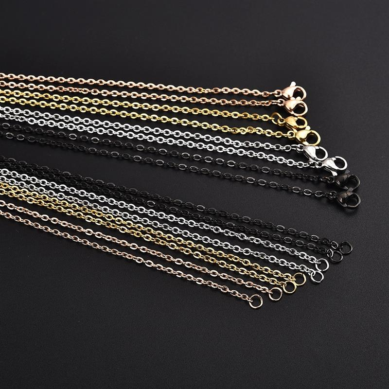 5//10PCS Golden Plated Lobster Clasp Snake Chain For Jewelry Making Finding Gift