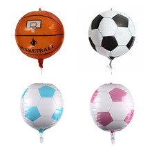 New 22 Inch 4D Basketball Football Balloon Birthday Party Baby Shower Anniversary