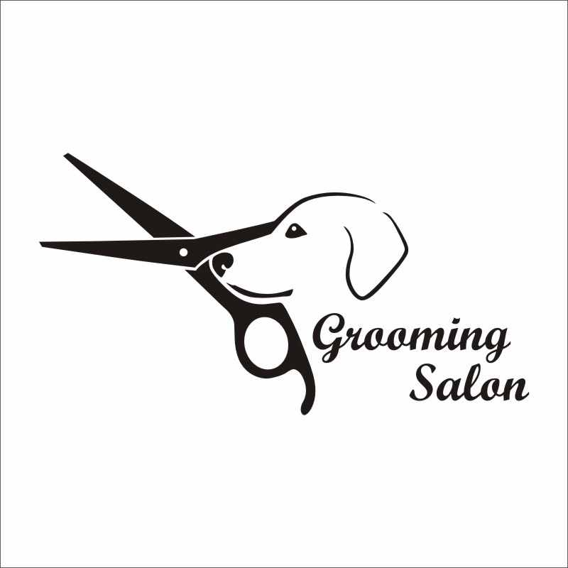 DCTAL Dog Grooming Salon Pet Shop Sticker Decal Posters Vinyl Wall Art Decals Parede Decor Mural Pet Shop Sticker