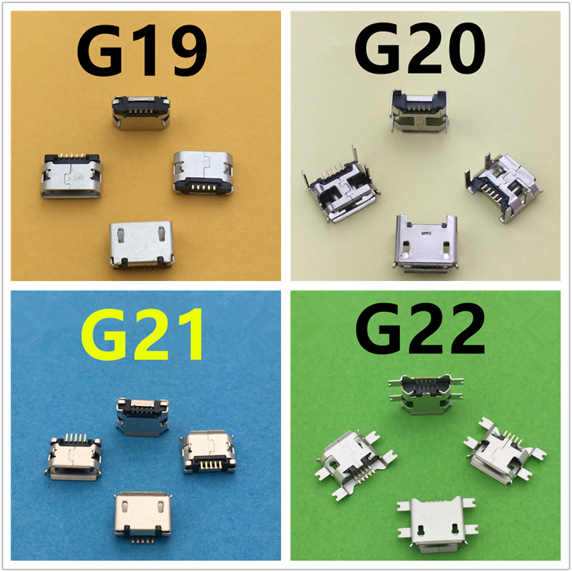 20 Models Micro USB 5pin Female Connectors For Mobile Phone Charging SMT Socket Data Jack Connector Port PCB Board Drop Shipping