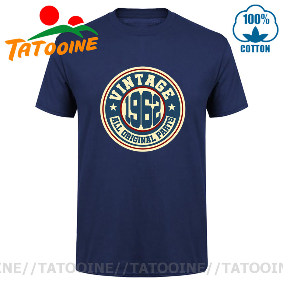 Tatooine Vintage 1962 All Original Parts T shirt men Retro Born in 1962 T-shirt 60s Apparel Made in 1962 tshirt Hipster Tops Tee