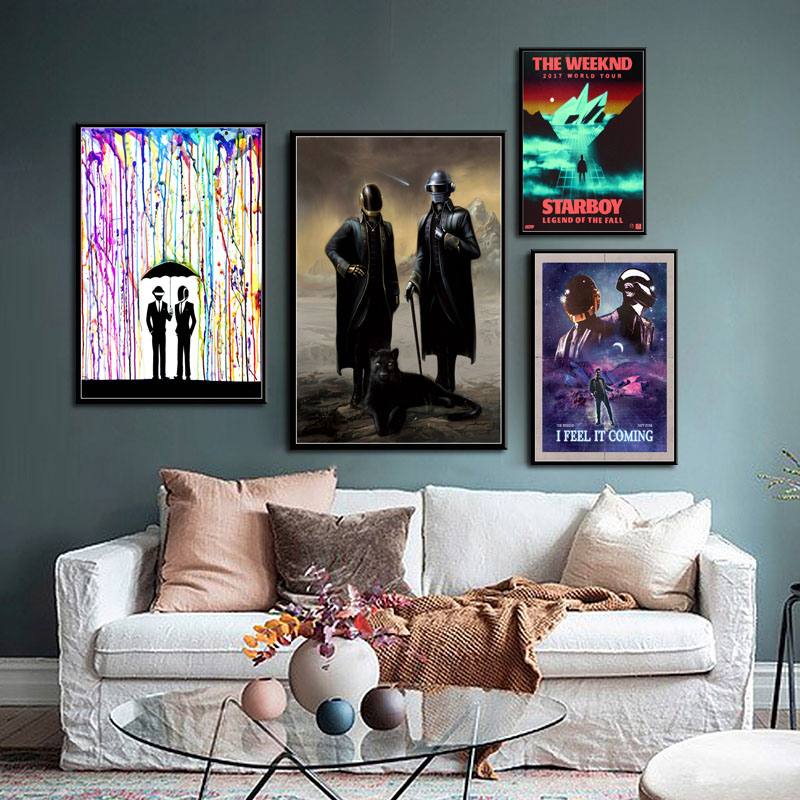 The Weeknd Starboy Legend of the Fall 2017 World Tour Silk Poster Wall Decor