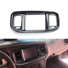 Trim Dashboard Dodge-Charger Carbon-Fiber Frame for Cover Dvd-Navigation-Screen