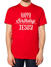 Happy Birthday Jesus T Shirt Christmas Xmas Tee Men Women Kids Slogan Funny JC26(China)