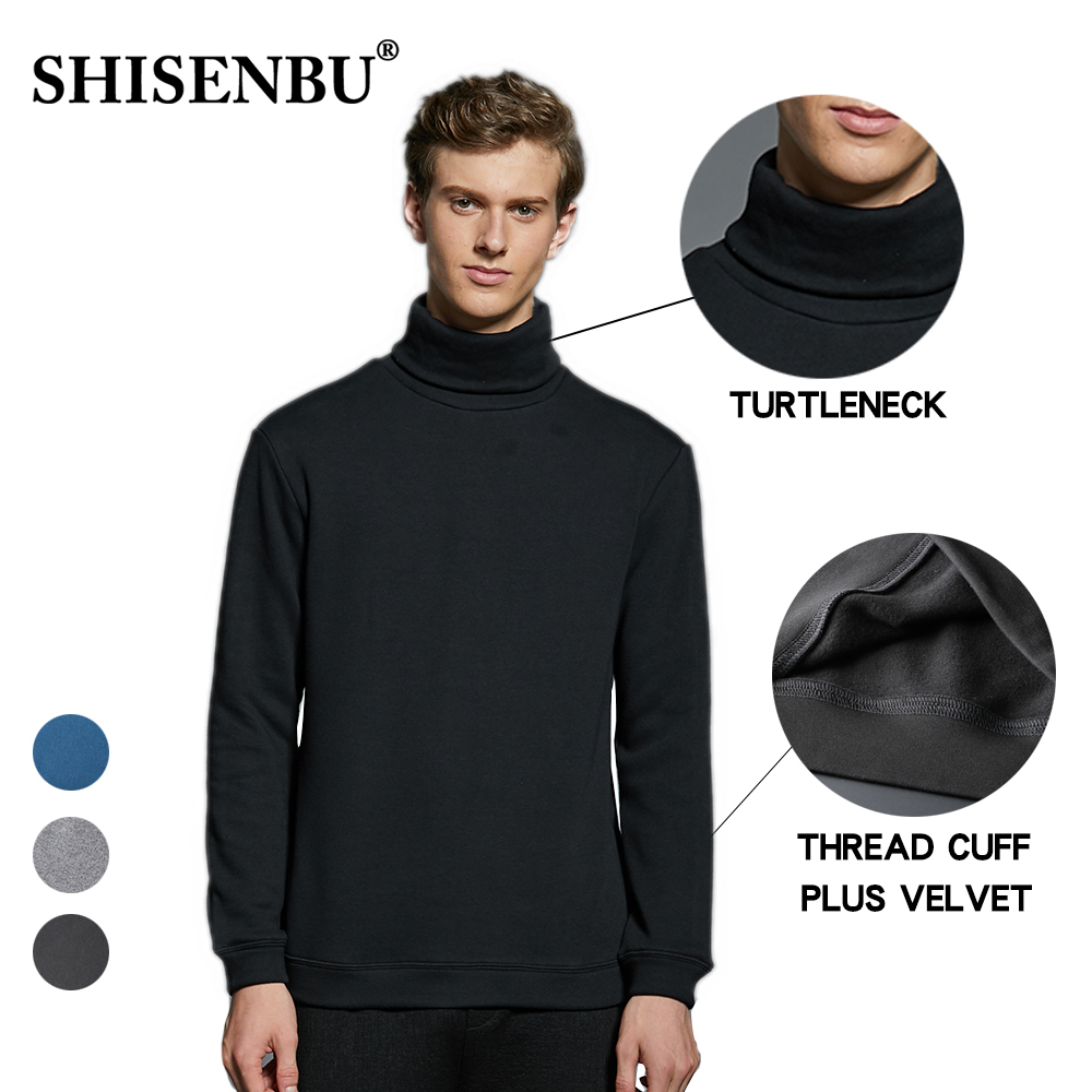 turtleneck men sweater Plus velvet pull homme anti-pilling mens sweaters for men Slim Fit Brand Simple Knitted Twist Pullovers (5)