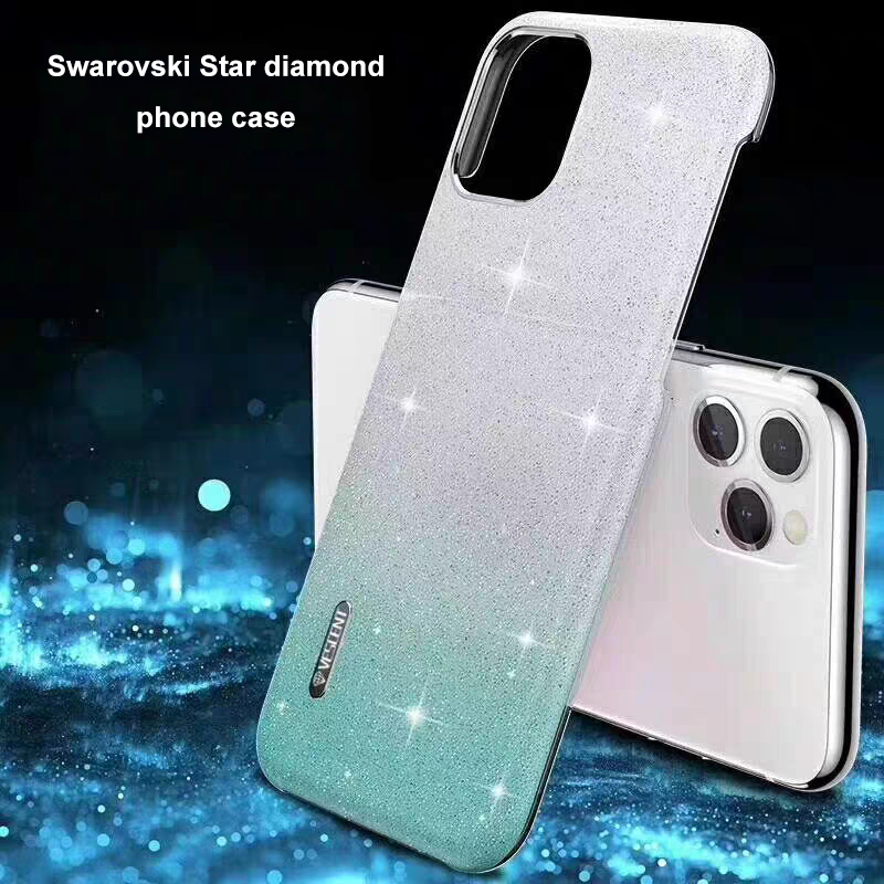 Crystal-like silicone case For iPhone 11 Pro MAX Original Star Diamond Protective Case For X Xs Max back cover