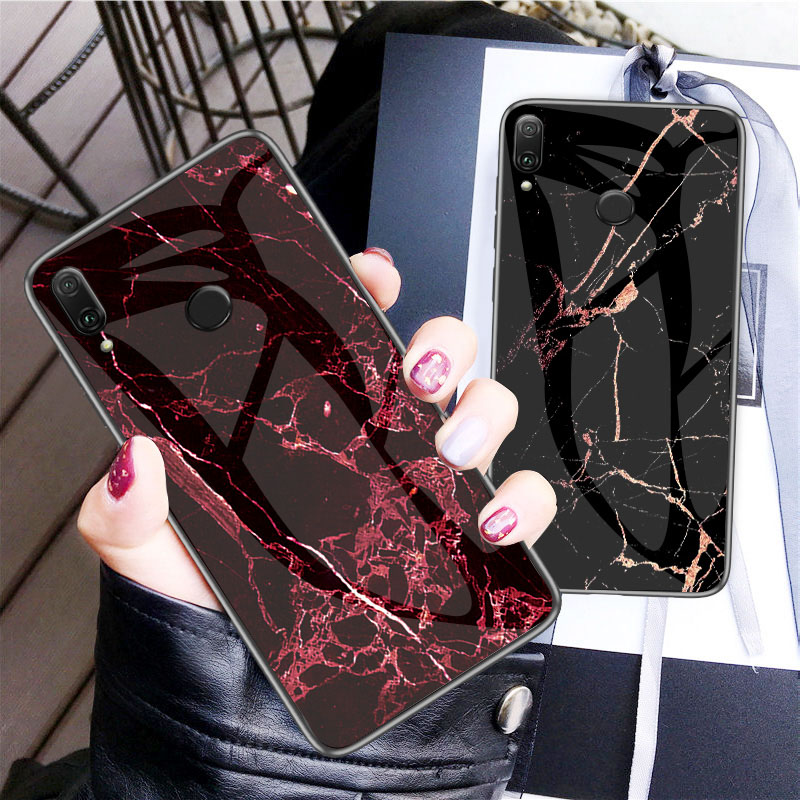 Marble Tempered Glass Case For Xiaomi Redmi Note 7 6 5 Case Redmi K20 Pro 4 4X 5A 7A 5 Plus 6A S2 Y2 CC9 A3 A2 Lite Mi 9T Cases