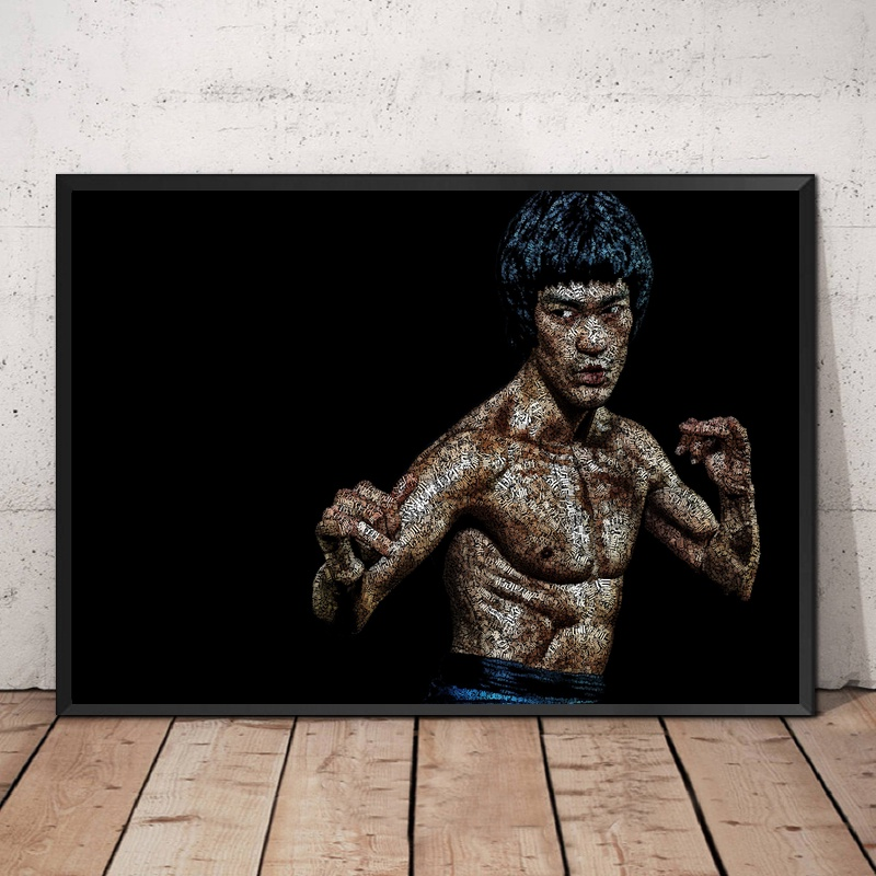 Bruce LEE Quote Motivational Movie Canvas Poster Art Prints 8x12 24x36 inch