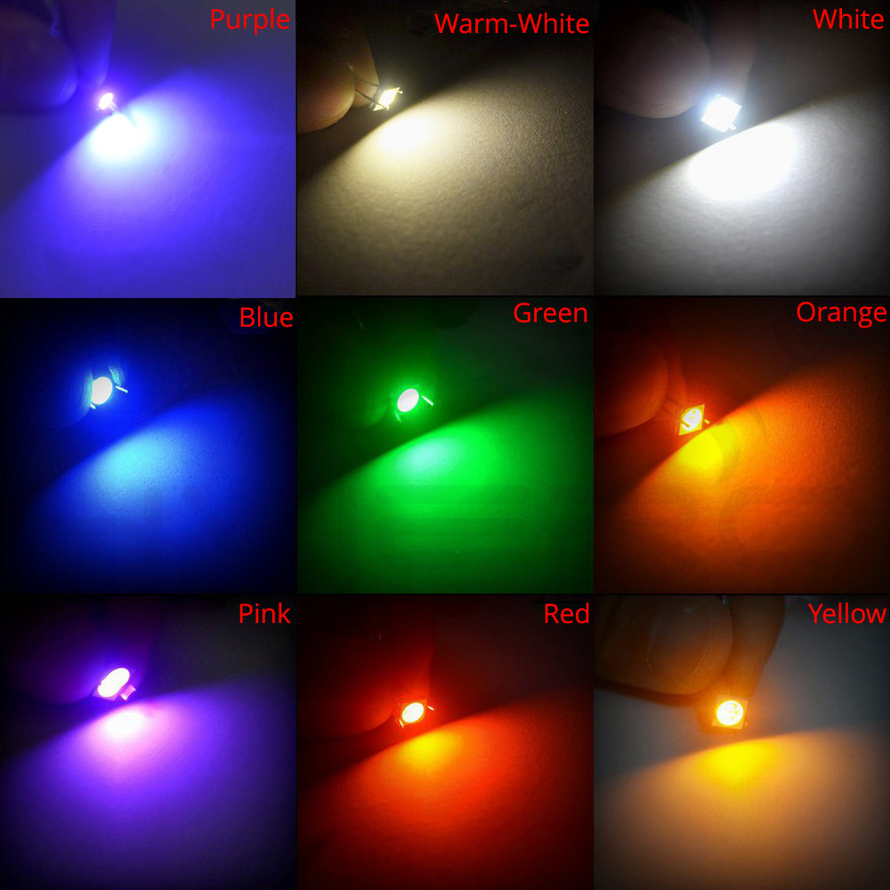 50PCS SMD SMT 3528 Yellow Super bright Yellow LED lamp Bulb NEW