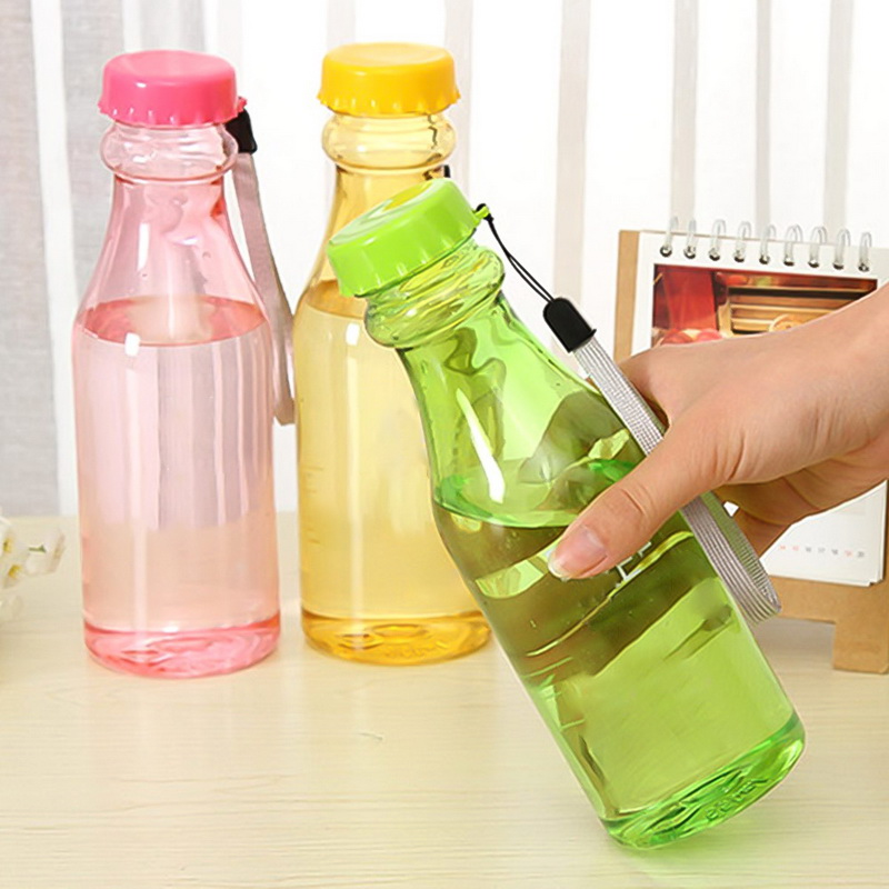 Plastic-Bottles Shaker Fitness Water-Unbreakable Yoga Sports Protable Leak-Proof Children title=