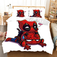 Bedding-Set No-Sheet Movies Deadpool Printing Disney Duvet-Cover Home-Textiles King Adult