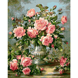 AZQSD Картина маслом «цветок в вазе» картина по номерам краска цветок DIY холст Картина Ручная роспись украшение дома SZYH6310