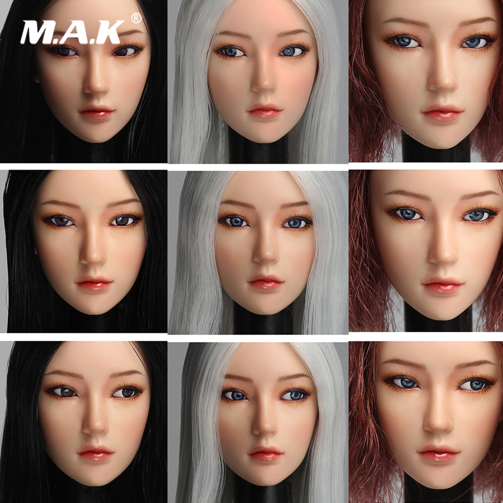 Super Duck SDDX02C Long Grey Hair 1//6 Scale Female Head Carved PVC Collectio