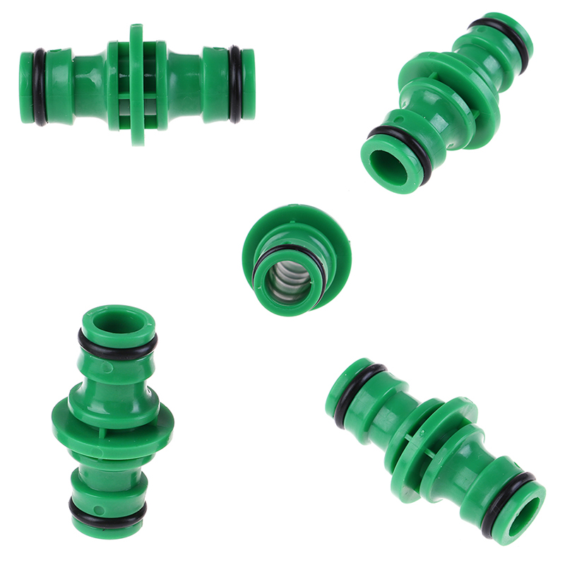 5Pcs/lot Double Port Wate Fitting Garden Pipe Water Connector Quick Fix Coupler