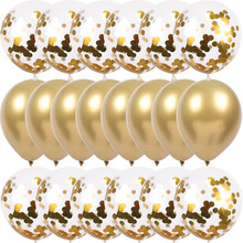 Gold Confetti Balloons-Set Birthday-Decor Wedding-Decoration Globos Chrome Metallic Kids Party