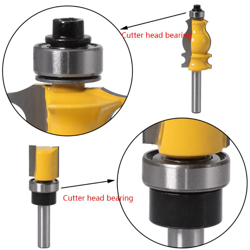 Durable Steel Bearings Accessories Kit Fits for Milling Cutter Heads and Shank 9 Styles