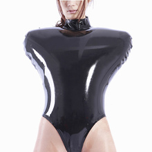 Handmade Black Inflatable Latex Rubber Swimsuit Gummi Jumpsuit Customize