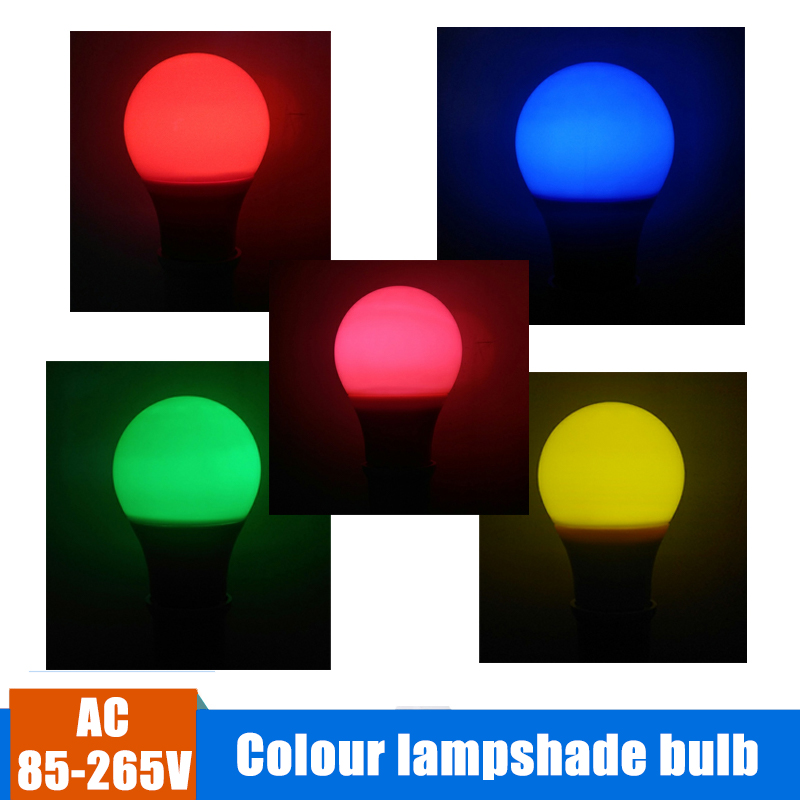 E27 Colorful Globe LED Bulb LED Bar Lighting 5W 7W 9W Red Blue Green Yellow Pink LED Light Lamparas For Bar KTV Party Stage