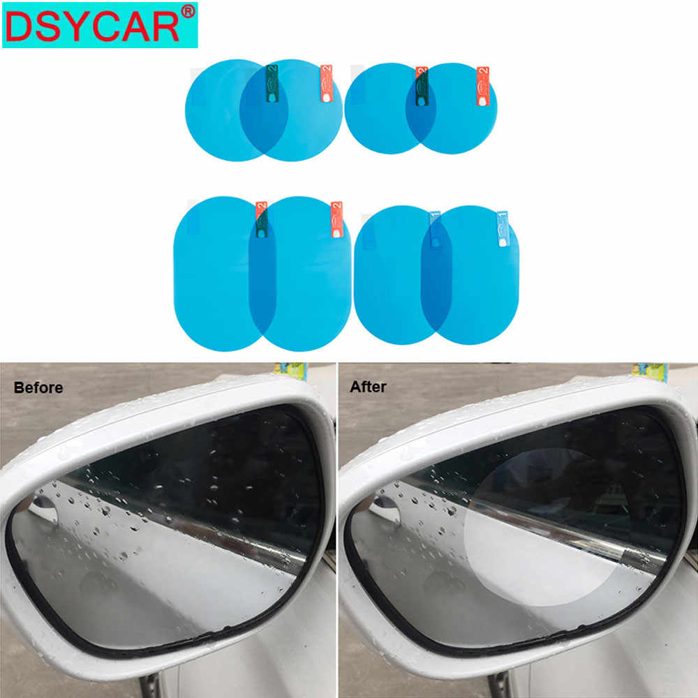 DSYCAR Car Rain Film Rearview Mirror Protective Film Anti Fog Membrane Anti-glare Waterproof Rainproof Car Window Clear Safer