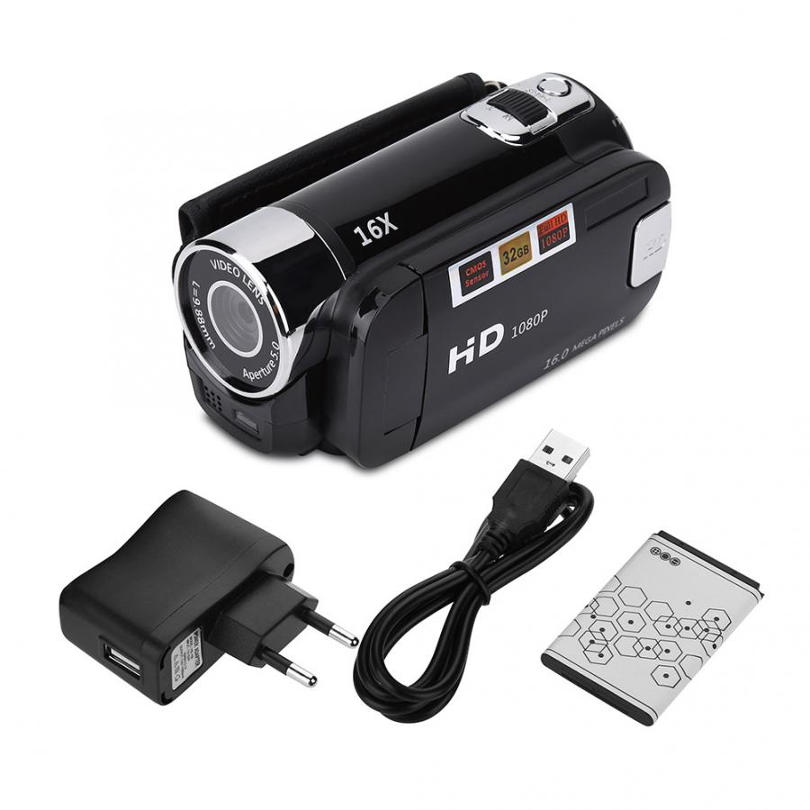 Digital-Video-Camera Dv Camcorder Rotation-Screen Full-Hd 1080P 16MP 16X 270-Degree Night-Shoot-Zoom title=