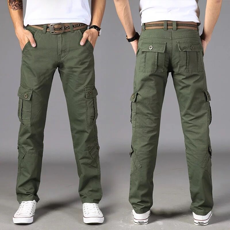 Casual Trousers Cargo-Pants SWAT Stretch Many-Pockets Tactical Combat Army Cotton Male title=