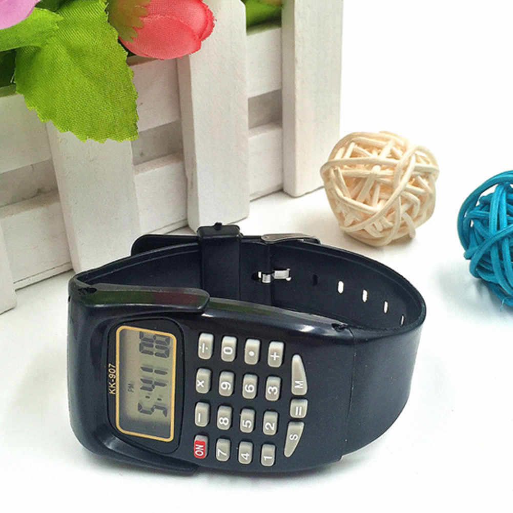 Calculator Watch Display Exam Digital Oriented Electronic Kids Students Gift Wrist Mini title=