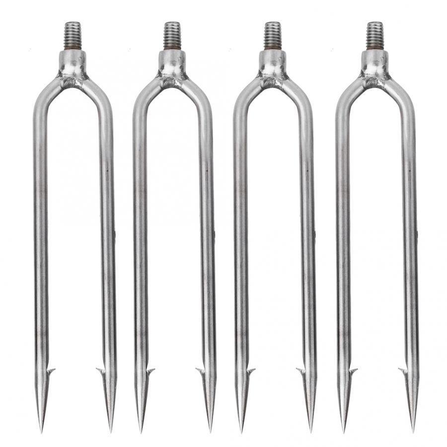 5 Prong Harpoon Fishing Barbed Spear Gun Gig 8 mm head Stainless Steel Hook Gig