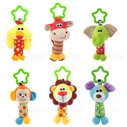 6 стилей детские игрушки погремушки успокаивающие куклы плюшевые детские погремушки игрушки животные колокольчики новорожденные животные...
