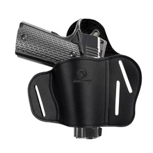 Kosibate Hunting Holster Leather Holster OWB for Gun Pistol Kimber Colt 1911 Remington