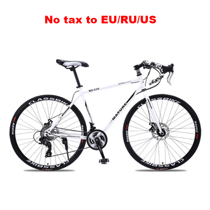 Road-Bike Bicycle Adult Variable-Speed Aluminum-Alloy-Frame Double-Disc-Brake Ultra-Light title=