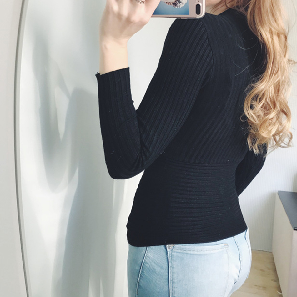 Sexy Winter Knitted Sweater V Neck Cashmere Sweater Female 19 Women Sweaters And Pullovers Autumn Long Sleeve Sweater Jumper 17