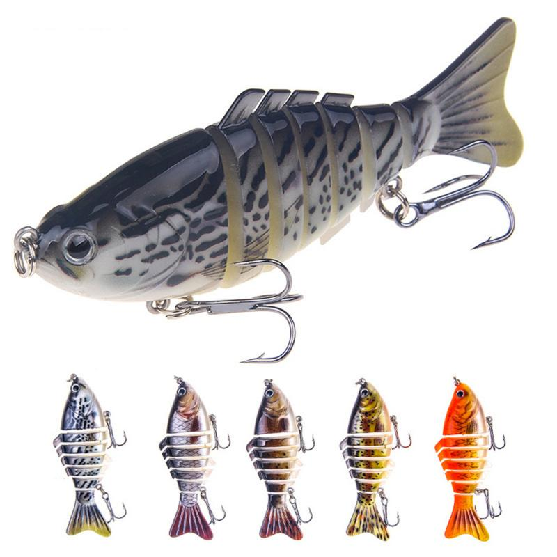 Baits Fishing-Lures Swim-Wobblers Sinking Swing Multi-Jointed Artificial-Multi-Segment title=