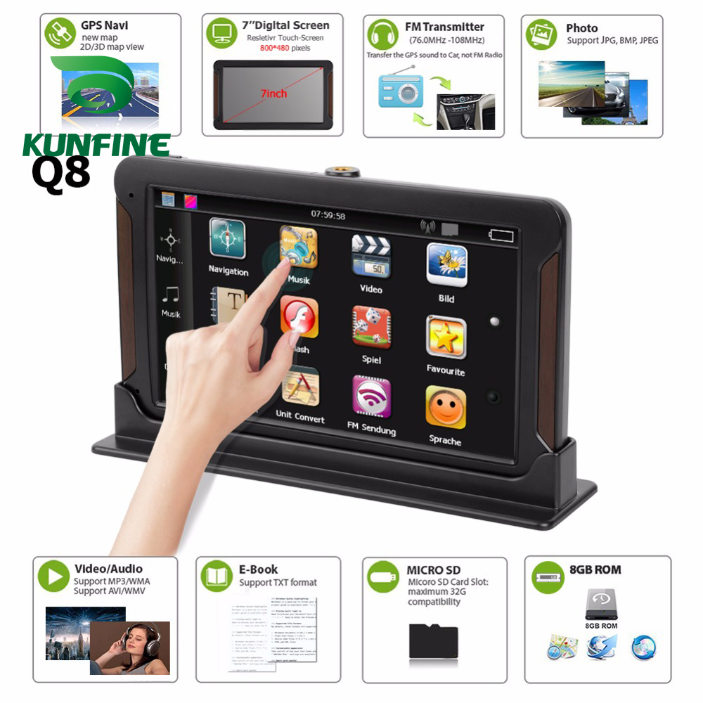 Android Car Navigation 512m-Truck GPS Rear-View-Camera Screen-Free 7inch DVR with Fm-Radio title=