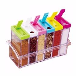 6 шт./компл. банка для специй коробка для приправ пластиковые бутылки для приправ сахар соль и перец шейкеры банки коробка с пряностями конте...