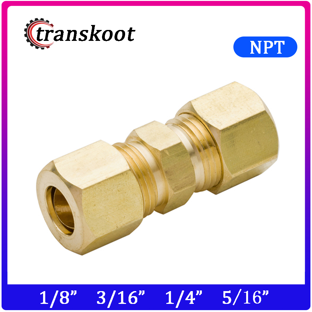 """10 x 3//16/"""" OD Compression Union BRASS COMPRESSION FITTING 3//16 Size FROM USA"""