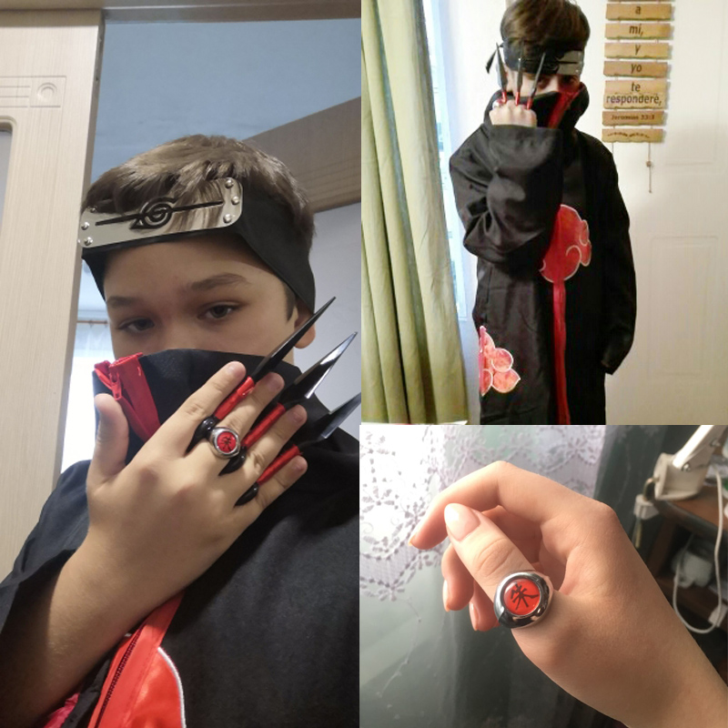 Children/kids Anime Naruto Akatsuki /Uchiha Itachi Costume Cosplay Halloween Christmas Pain Cloak Cape