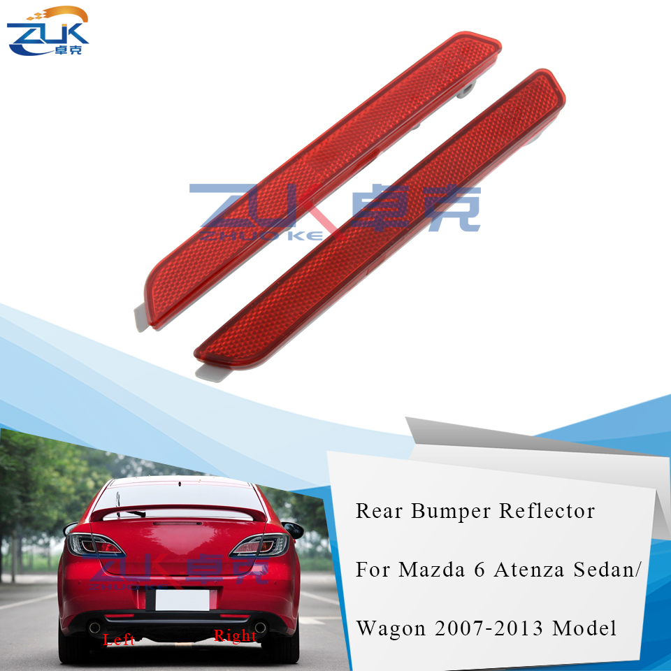 Pair Rear Bumper Reflector Lamp Left /& Right For Mazda 6 2002-2013 GG GY