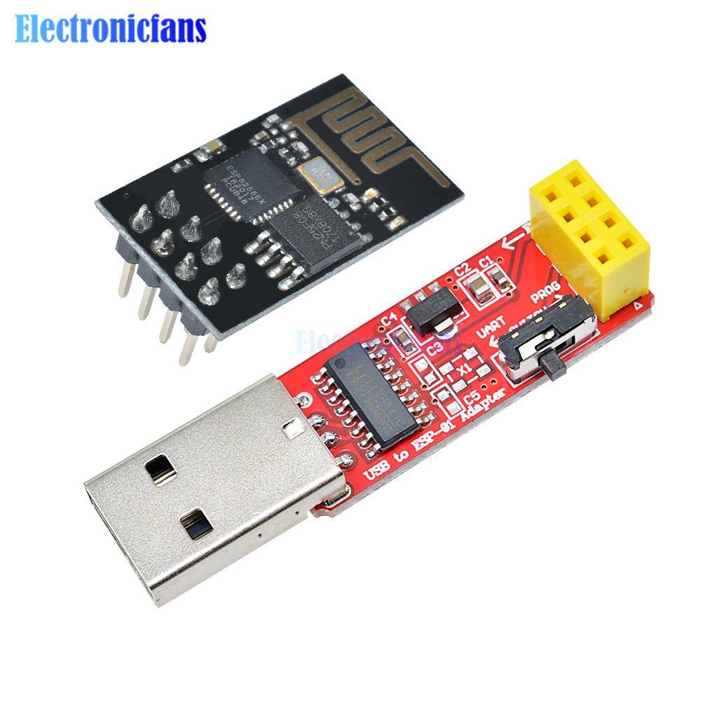 CH340 USB to ESP8266 Serial ESP-01 ESP-01S ESP01 ESP01S Wireless Wifi Developent Board Module for Arduino Programmer Adapter