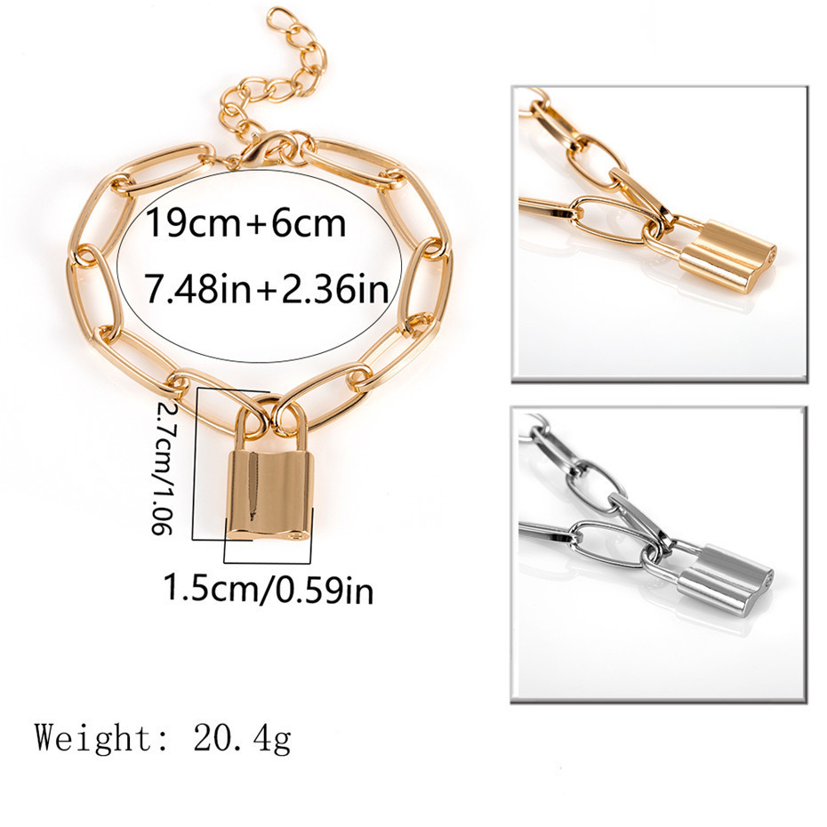 IngeSight-Z-Charm-Lock-Pendant-Bracelets-Bangles-Wrist-Chain-Simple-Minimalism-Geometric-Square-Chain-Bracelet-for