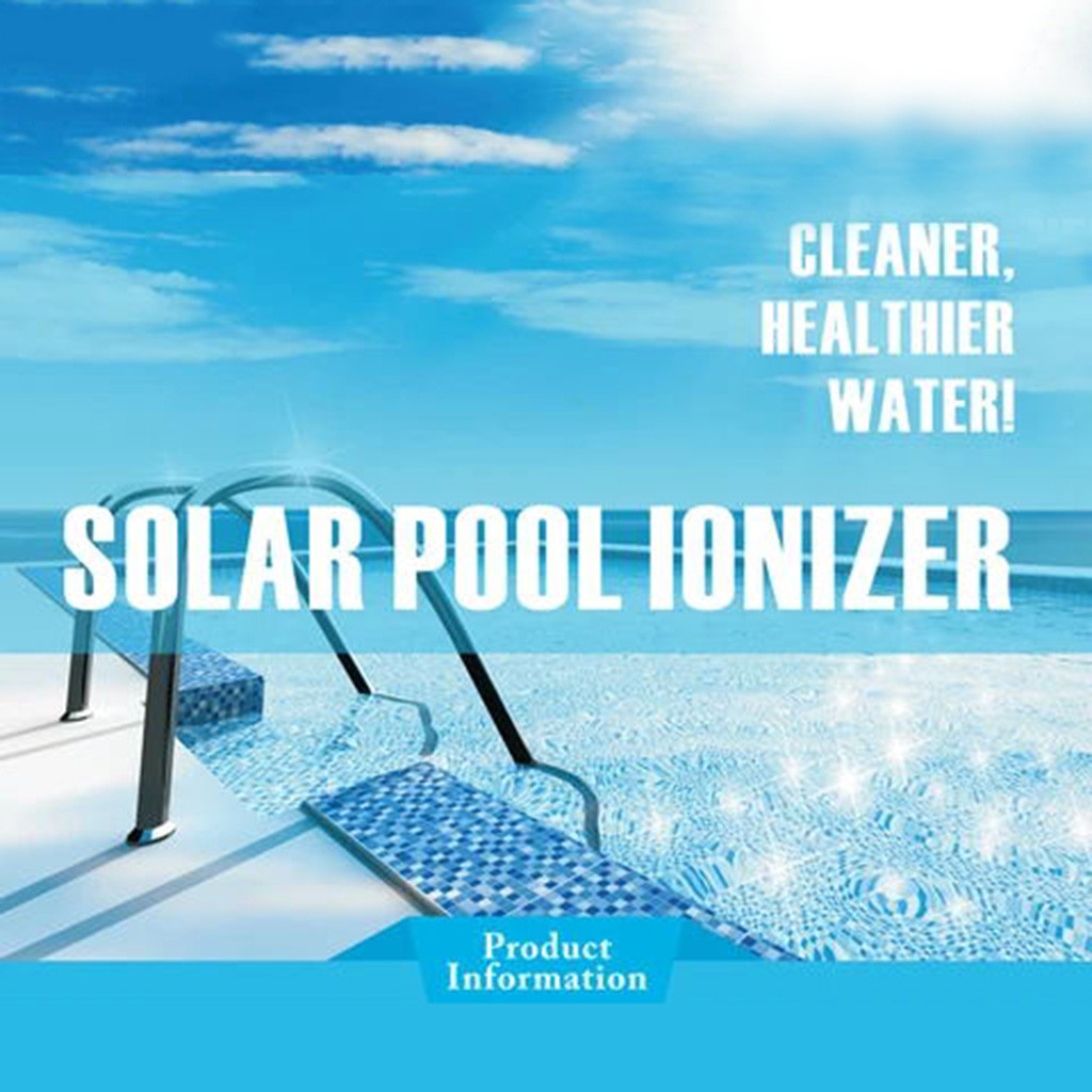 Nature - Solar Pool-Ionizer Copper Silver Ion Swimming Pool Purifier Water Purifier Kills Algae Solar Pool Ionizer