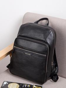 Мужской рюкзак из натуральной кожи BISON DENIM, рюкзак для ноутбука 14 дюймов, рюкзак для путешествий, мужской модный рюкзак, школьный рюкзак для м...