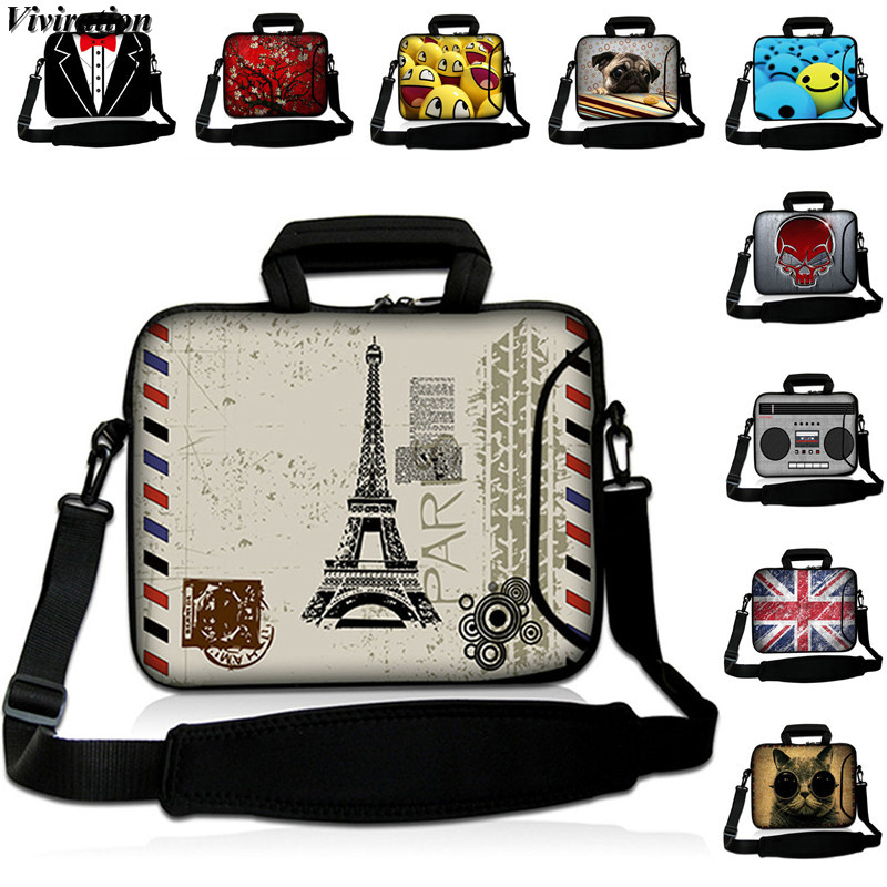 2020 Casual Popular Eiffel Tower Prints Laptop Case 15 13 12 14 17 10 17.3 15.6 13.3 11.6 Sleeve Messenger Computer Notebook Bag