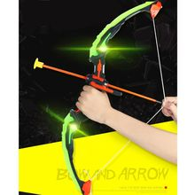 Arrow-Toy-Set Quiver Light-Up Archery-Bow Girls And for Boys with 3-Suction-Cup Target