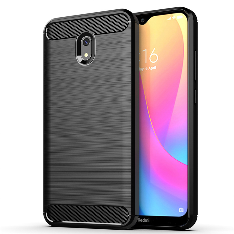 For Redmi 8A Case Carbon fiber Cover Shockproof Phone Case On For Xiaomi Redmi Note 8 Pro Note8 Cover 360 Full Protection Bumper