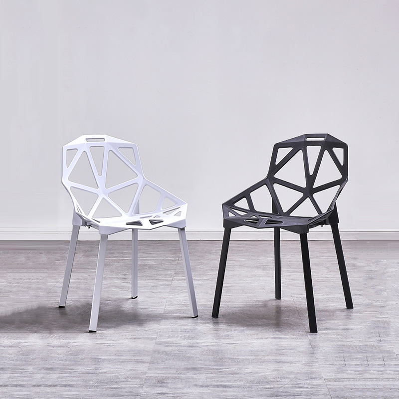 Nordic Creative PP Plastic Hollow Chairs Dining Chairs for Dining Rooms Restaurant Furniture Cafe Meeting Bedroom Dining Chairs title=