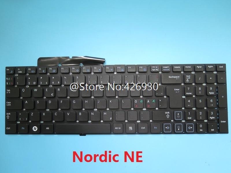 Laptop Keyboard for Samsung N100 N100S N100SP Nordic NE White