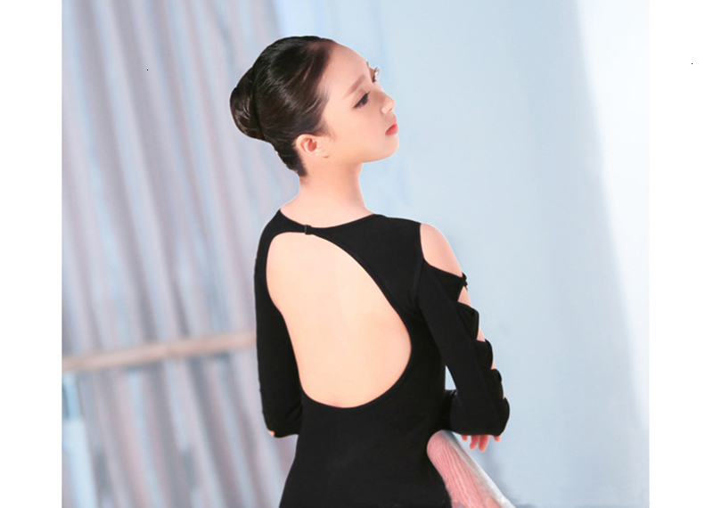 One-Piece Suits Ballet Leotar Summer Belly Dance Dress Hollow Women Costume Latin Tights Girl Backless Halter (13)