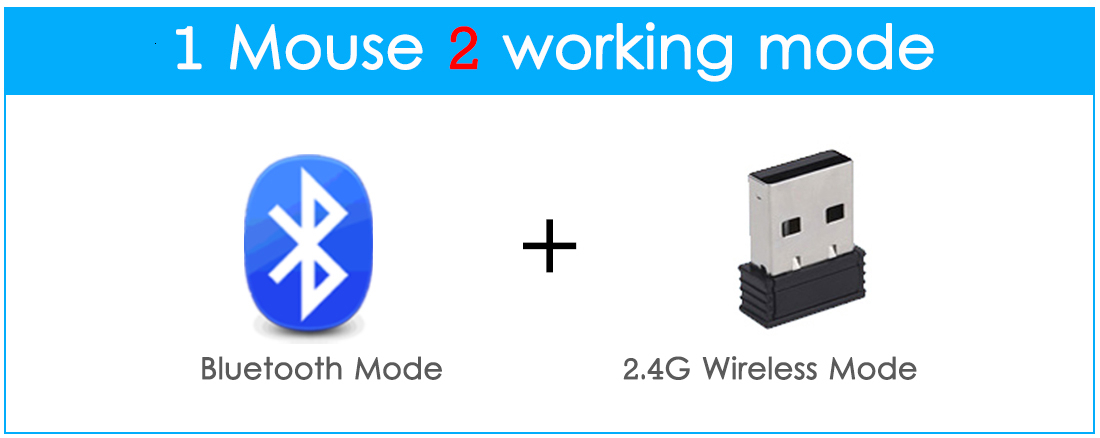 Dual Mode Bluetooth Mouse + 2.4G Wireless Mouse