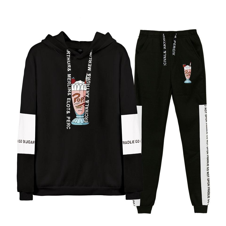 River Valley Town 2019 Spring Autumn Men Thin Tracksuit Sets Hoodie Sweatsuit&Pants 2 Pcs Suit Sets Fashion  Hip hop Suit